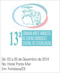 13ª Jornada Norte e Nordeste de Centro Cirúrgico e Central de Esterilização