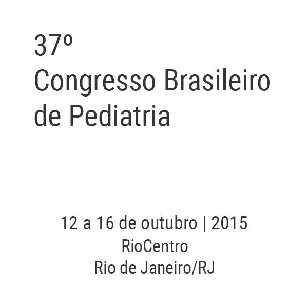 37º Congresso Brasileiro de Pediatria
