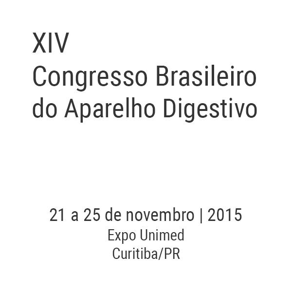 XIV Congresso Brasileiro do Aparelho Digestivo